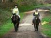 Anne Farley (11) on Threeshires Equinox and Gill Shepherd (42) on Grace