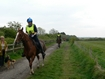 (8) Tracey Walthall and (11) Alex Russell on Oakthwaite Elsadyr