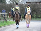 1. Alison Siriwardena with Woody, 2. Jasmine Hulme with Spec and 3. Pam Roe with Alfie finishing the ride