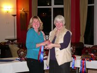 Sally Mellor collects the Fox Trophy for Katy Mellor