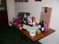 Some of the raffle prizes - thanks to those who kindly donated