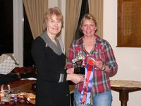Claire Pilkington with the Streamcross Dakota Trophy