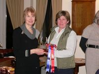 Rachel Rolfe with the Cheshire Group Trophy