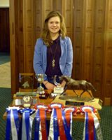 Katy Mellor with her awards