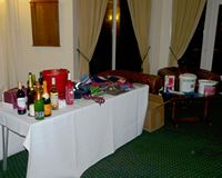 The raffle prizes - thanks to those who kindly donated