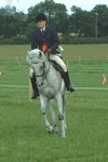Pat Guerin on Zhiwah at North Staffs Arab Horse Show 2004